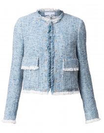 Banati Pale Blue Tweed Jacket