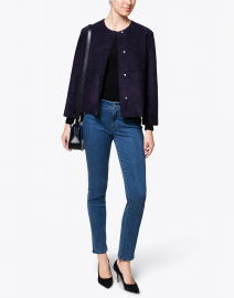 Weekend Max Mara - Educata Navy Suede Jacket