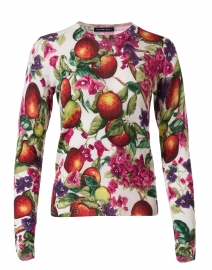 Charlotte Peach Print Silk Cashmere Sweater