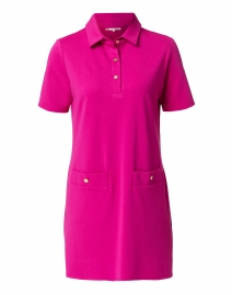 Penny Pink Ponte Polo Dress