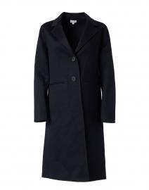 Navy Double Face Cashmere Coat