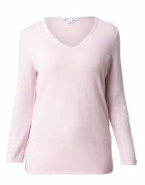 Blush Pink Button Cuff Cashmere Sweater