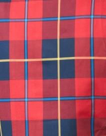 Gretchen Scott - Plaidly Red Plaid Ruffle Neck Top
