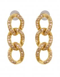 Light Peach Crystal Encrusted Chain Link Earring