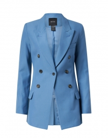Slate Blue Single Button Blazer