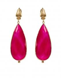 Serti Goutte Pink Teardrop Earrings