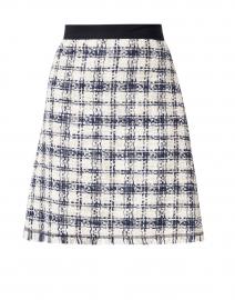 Rysa Navy and White Cotton Tweed Skirt