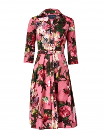 Audrey Dusty Rose Floral Stretch Cotton Dress