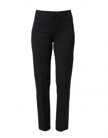 Lombard Black Slim Leg Stretch Trouser