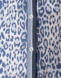 Rani Arabella - Blue Leopard Cashmere Cardigan