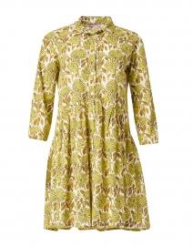 Deauville Citron Floral Print Shirt Dress
