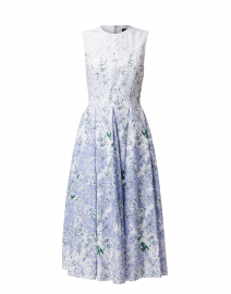 Lavender and White Floral Cotton Dress