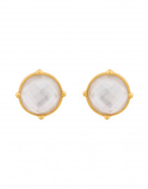Honey Iridescent Clear Crystal Clip On Earrings