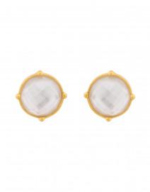 Honey Iridescent Clear Crystal Clip On Earrings