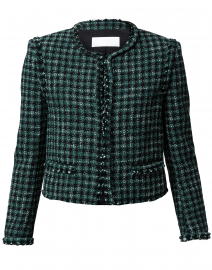 Johella Green Tweed Cropped Jacket