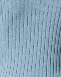 Allude - Blue Cashmere Ribbed Polo Sweater