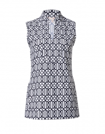 Kiera Navy and White Bamboo Dot Printed Tunic