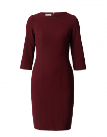 Burgundy Sheath Dress