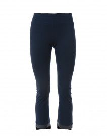 Olga Navy Cropped Flare Tech Stretch Leggings