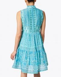 Bella Tu - Turquoise Floral Block Print Dress