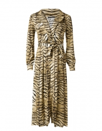 Ruxy Beige Animal Printed Satin Dress