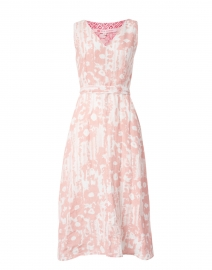 Desert Floral Print Linen Dress