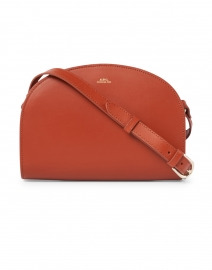 Orange Demi Lune Leather Crossbody Bag