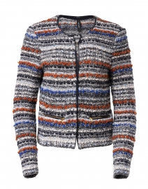 Multi Tweed Jacket with Zipper Pocket Detail