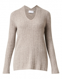 Sandstone Melange Ribbed Sweater