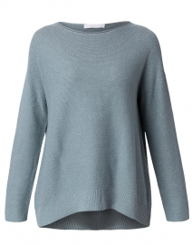 Blue Lurex Wool and Silk Sweater