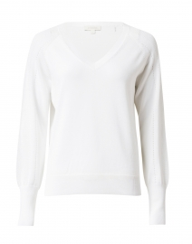 White Cotton Pointelle Sweater