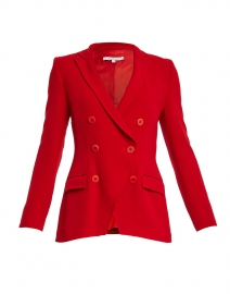 Paco Red Wool Crepe Blazer Jacket