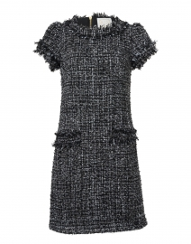 Black and White Sparkle Tweed Shift Dress