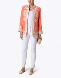 Bella Tu - Ceci Coral Embroidered Linen Jacket