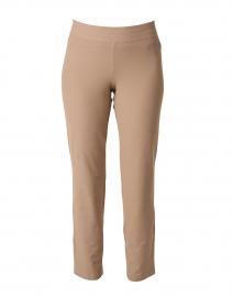 Barley Beige Stretch Crepe Essential Slim Ankle Pant