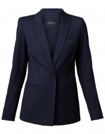 Harvey Navy Stretch Wool Blazer