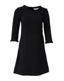 Erin Black Wool Crepe Dress