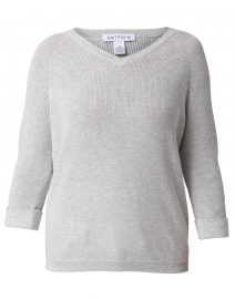 Grey Heather Cotton Shaker Sweater