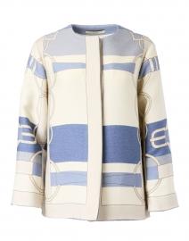 Blue Saddle Printed Wool Jacket
