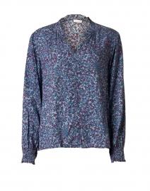 Portman Blue Floral Chiffon Blouse