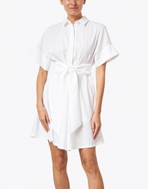 Emporio Armani - White Cotton Poplin Shirt Dress