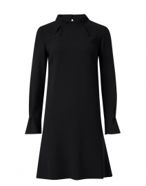 Elodie Black Wool Crepe Tunic Dress