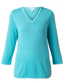Blue Cotton Tunic Sweater