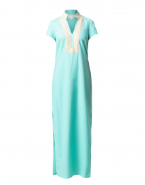 Mint Stretch Linen Maxi Tunic Dress