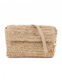Marni Natural Woven Raffia Baguette Bag