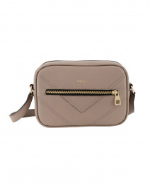 Manhattan Taupe Pebbled Leather Cross-Body Bag