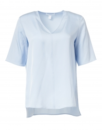 Ivala Light Blue Silk Top