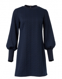 Navy Cable Knit Dress