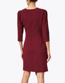 Shoshanna - Ralph Garnet Red Stretch Crepe Dress