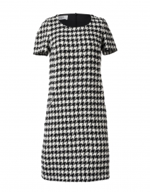 Cleef Black and White Houndstooth Tweed Dress